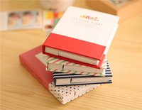 Wholesale Wholesale Pens Notepads - Korean Creative Tower Hardcover Combine Memopad Notepad Stationery Diary Notebook Office School Supplies With Pen 1pcs