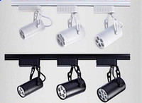 Wholesale Black White Shell W W W W W Led Track Lights Angle Warm Natural Cool White Led Ceiling Spot Lights AC V