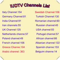 8GB arabic iptv - IUDTV Subscription European IPTV Channels Arabic Portuguese Dutch Italy Swedish Spanish TV Package Indian African French USA UK Account M3U