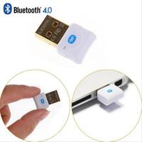 conector mini bluetooth al por mayor-Transmisor Bluetooth Mini USB Bluetooth V4.0 Modo dual Dongle inalámbrico Conector enchapado en oro CSR 4.0 Adaptador Transmisor de audio para Win7 / 8