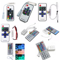 Wholesale Controller Dimmer - 44keys IR Remote LED RGB RGBW Controller DC 12V-24V 12A RF Wireless Remote Dimmer 2 Ports RGB Remote Control For 5050 5630 5730 Led Strips