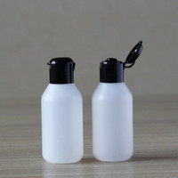 Wholesale Empty Plastic Water Bottles - 50ml Plastic Cosmetic Water Bottle Empty Body Lotion Shampoo Cream Packaging Flip cap Bottles Hotel Supplies F2017669