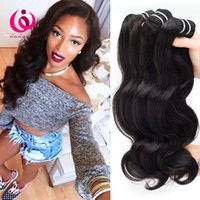 Cheveux Doux Pas Chers Pas Cher-Cheap Price Brazilian Hair Hair Bundles Body Wave Wow Queen Hair Products Extensions douces et épaisses non traitées de cheveux vierges brésiliennes