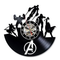 Wholesale quartz wall - Cool Vinyl Record Wall Clock Christmas Gift for Avengers Fans
