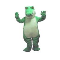Wholesale Dress Size Plush - 100%as the picture, Hot Sale Crocodile Alligator Plush Mascot Costume Adult Size Fancy Dress Suit Free Shipping
