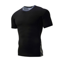Wholesale Tight Black Clothes - Men's short-sleeved round neck tights outdoor sports quick-drying T-shirt camouflage network tight stretch training clothes