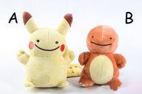 Wholesale Pokemon Raichu - Hot ! Poke Pocket Monsters Pikachu Charmander Squirtle Bulbasaur Eevee Raichu Jolteon Gengar Plush Doll Toy 12-18cm