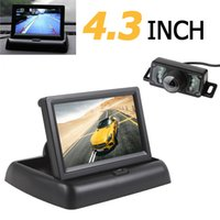 4.3 pouces HD Car Rear View Monitor 2 canaux d'entrée vidéo TFT-LCD avec 7 IR Lights Waterproof Car Rear View Camera CMO_528
