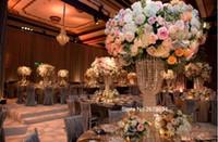 vasos de cristal alto venda por atacado-nes estilo fantasia alta vaso de cristal organizar flores grande vaso