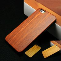 Wholesale Natural Real Bamboo Wood - Natural Real Wood Bamboo Wood Case For iPhone 6 6s Plus 7 7 Plus 5 5s SE Samsung Galaxy S7 S7 Edge Vintage Phone Case