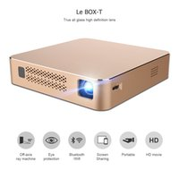 Wholesale projector t - VEZ BOX T Multimedia Home Theater Video Projector Support 1080P HDMI USB SD Card VGA AV for Home Cinema TV Laptop Game Smartphones 1pcs
