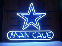 Fashion New Handcraft MANCAVE DALLAS COWBOYS Real Glass Tubes Beer Bar Pub Affichage néon sign 19x15 !!! Meilleure offre!
