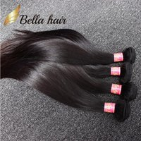 Barato Bella Hair Straight Malaysian-Double Weft Malásia Straight Hair Extension 4 Bundles Unprocessed Natural Color Silky Straight Frete Grátis Bella hair