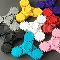 Wholesale Red Lucky Hand - Lucky Wheel Hand Spinners Colorful Plastic Fidget Spinner Triangle Gear Spinning Top Every Day Carry Finger Toy Funny Toys For Kids Adults