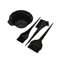 Wholesale Hair Bowls - 4 Pcs Hairdressing Brushes Bowl Combo Salon Hair Color Kit Dye Hair Tint Tool Set