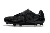 messi botas negras baratos al por mayor-Completo Negro Predator Mania Champagne FG Messi Hombres Fútbol Zapatillas de deporte baratos 100% Original Hombres botines de fútbol Messi al aire libre zapatos de fútbol