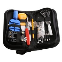 Wholesale Adjustable Set - Wholesale-144Pcs Watch Repair Tool Set Kit Adjustable Back Case Opener Spring Bar Remover
