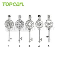 WG37 Teboer Jewelry 20pcs Atacado Mixed Key Lockets Cage Pingentes Projetos diferentes Love Wish Pearl Key Cages