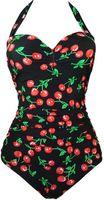 Wholesale Swim Suit Padded - New One Piece Swimsuit Women Plus Size Swimwear Retro Vintage Bathing Suits Beachwear Padded Print Swim Wear S To 3XL