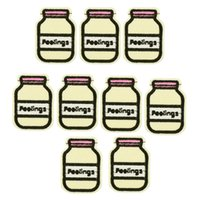 Wholesale 10PCS Milk bottle embroidery patch for clothing iron on patch sewing supplies accessories badge stickers on clothes applique iron on patches
