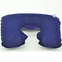 надувные подушки для отдыха оптовых-Шея надувная мягкая полётная автомобильная головка для отдыха на шее Компактная дорожная полётная автомобильная подушка надувная подушка для шеи U отдых на воздушной подушке