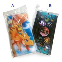Wholesale Playing Cards Plastic - Collection Poke go cards Top loaded Album Book List playing cards Pikachu holder album poke toys hold 84pcs card christmas B