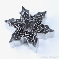 Wholesale Christmas Stainless Steel Mold - Cookies Biscuits Molds Set Christmas Snowflake Cake Mold Stainless Steel Cutter Collections Mould Irregular Shape Baking Moulds New 6kn BR