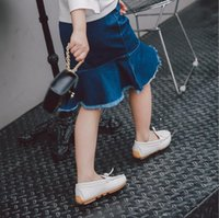 Wholesale girls pleated denim skirt for sale - Baby Girls Denim Skirt Summer Autumn Tassels Denim Skirts Children Clothing For Y p l