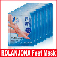 Wholesale Peeling Mask For Feet - ROLANJONA feet mask Baby Foot Peeling Renewal Foot Mask Remove Dead Skin Smooth Exfoliating Socks Foot Care Socks For Pedicure