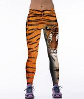 Wholesale Tiger Print Panties - Bengal tiger 3D printed yoga wear pants free shipping leggings tight panties for womens Leggings training pants free size sweatpants