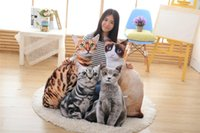 Wholesale Print Cloth Doll - 50 75cm 1 PCS New Style Artificial Cat Plush Toys 3D Printing Cat Pillow Cushion Cloth Doll Birthday Gift Baby
