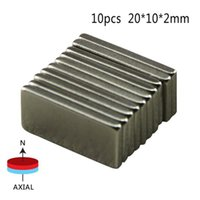 Wholesale Rectangle Magnets - 10 Pcs Big Super Rectangle Strong Large Ndfeb Magnetic Materials Neodymium N50 Magnet Block Wind