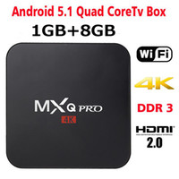 Wholesale Android Dlna - MXQ Pro 4K TV Box RK3229 Amlogic S905X Android 6.0 Android 1G 8G 5.1 Ultra Quad Core KD17.1 full load Box with WiFi HDMI DLNA 0803024