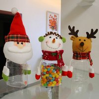 Wholesale- Doll Designed Christmas Snowman Deer Candy Jar Accueil Party Articles de vacances