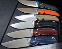 Wholesale Heading Lock - 10 models bear head F3 flipper knife axis lock knife D2 blade G10 handle camping hunting folding knife xmas gift knives 1pcs