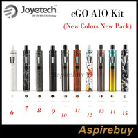 Wholesale Ego Batteries Light - Joyetech EGo AIO Kit All-in-one Style Device with 1500mAh Battery and 2ml e Liquid illumination LED Light 10 New Colors New Pack New Arrival