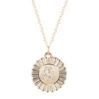 Wholesale vintage silver horse pendant resale online - 10pcs New Fashion Vintage Horse Necklace Merry Round Chain Pendant Summer Unisex Jewelry Simple Statement Necklace