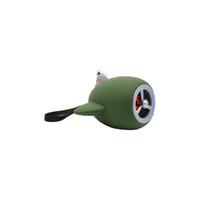 Wholesale Plane Usb - Army green colour creative of plane model Mini-bluetooth cell phone stereo USB heavy bass cartoon small-sized gun sound