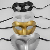 Wholesale White Plastic Face Mask - Free DHL shiping Christmas Masks Venetian Masks Masquerade Masks Plastic Half Face Mask