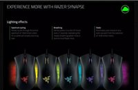 Wholesale Deathadder Mice - Razer Deathadder Chroma USB Wired Optical Computer Gaming Mouse 10000dpi Optical Sensor Mouse Razer Mouse Deathadder Gaming Mice 1pcs