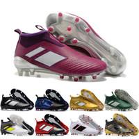 Wholesale Cheap Mens Boots Online - 2017 Cheap Online Wholesale ace 17 purecontrol FG AG mens soccer cleats shoes boots, cheap wholesale performance Mens football shoes
