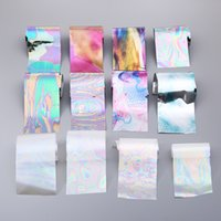 Wholesale Nail Wrap Sticker Galaxy - 12 Sheet Colorful Nail Art Stickers 4*12cm Starry Rainbow Galaxy Space Irregular 3d Manicure Decoration Decals Nails Wraps New