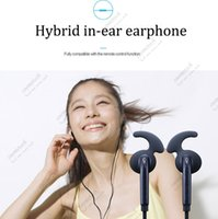 Wholesale Blue Earbuds Volume Control - brand new S7 Earphone Earphones Headphones in-ear fit Earbuds Headset for Jack In Ear wired With Mic Volume Control 3.5mm red With RetailBox