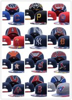 Wholesale Wholesale Teams Hats - Men's Women's MLB Snapback Baseball Snapbacks All Teams Chicago Cubs Hats Mens Flat Caps Adjustable Cap Sports Hat