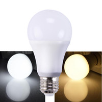 Wholesale Dimmable Led Bulbs 5w - Led Dimmable bulb high Brightness 900Lm 9W 2835 Led Bulbs White plastic Aluminum Light 220 Angle cool white warm white AC110-220V CRI 80Ra