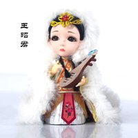 Wholesale Traditional Folk Crafts - Shipping Beijing Tang Fang silk doll traditional crafts business gift Home Furnishing decoration four beauties