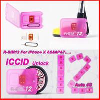 Wholesale Perfect Card - Rsim 12+ r sim 12+ RSIM11 + r sim12 + plus1 perfect SIM card automatically unlocks the official IOS for iPhone 7 unlocks iOS