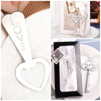 Wholesale Love Heart Corkscrew Bottle - Popular Wedding Giveaways Corkscrew Resistance To Fall Metal Bottle Opener Heart Love Angle Crown Shape Openers Top Quality 2 5cd B