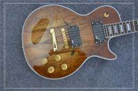 качественная натуральная гитара оптовых-New Arriva, высокое качество OEM пользовательские электрогитара с Spalted Maple Top, античный натуральный, обязательный, бесплатная доставка