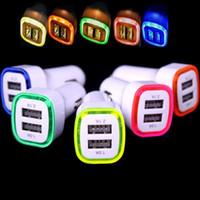 gps для ipad оптовых-LED автомобильное зарядное устройство 2ports адаптер 5V 2.1 A+1A для Iphone 4 5 6 7 для ipad для samsung gps mp3 pc
